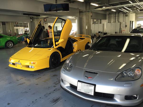 Lamborghini Diablo Jota & Corvette Z06